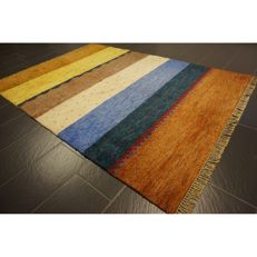 Beautiful hand-knotted Gabbeh oriental carpet, Indo Gabbeh 245 x 175 cm, made in India, rug Tapis Tapijt