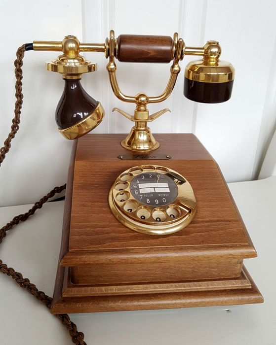 Wooden classic phone, second half of the 20th century