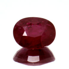 Red ruby - 1.86 ct