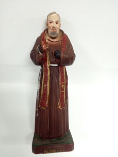 Padre Pio of Pietrelcina - handmade and hand-painted sculpture