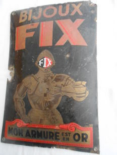 Advertising metal plate - Bijoux FIX - 1935