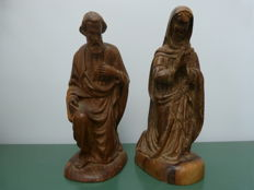 Antique finely carved wood religious figures