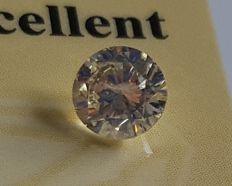 0.44 ct, SI1, color : J, *** NO RESERVE *** ALL EXCELLENT, 4.88 x 4.84 x 2.92 mm
