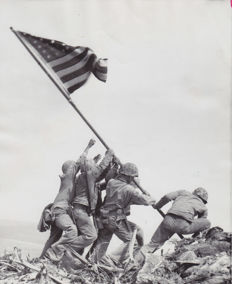 Joe Rosenthal (1911-2006) - Raising the flag on Mount Suribachi, Iwo Jima, 1945
