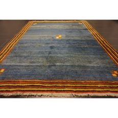 Hand-knotted carpet, Gabbeh nomad work carpet wool on wool, made in IRAN, 260 x 200 cm