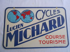 Cycles Lucien Michard - Double-sided lithographed plate - 1935