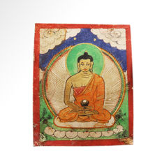 Tsagli, depicted is Buddha Amitabha, 5.5 cm L - Mongolia - 19th century