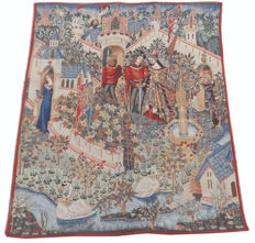 vintage pictorial tapestry , second half of the 20th century, France  89 cm x 70 cm,