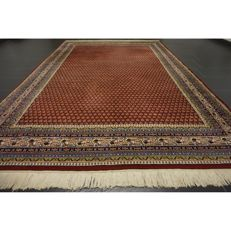 Magnificent hand-knotted oriental palace carpet, Sarouk Mir, 300 x 200 cm, made in India, fantastic highland wool