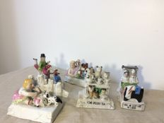 Lot of 5 hand painted porcelain figurines