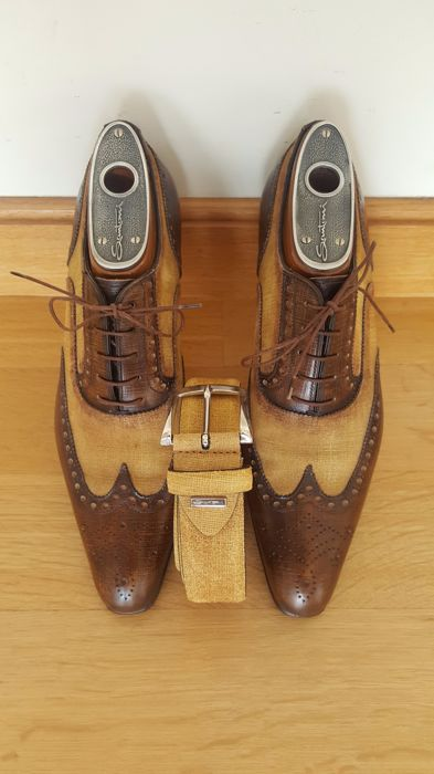 Santoni - Shoes & Belt set