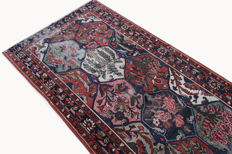 Antique Persian carpet, Bakhtiar, 3.45 × 1.30, genuine hand-knotted oriental carpet, circa 1925