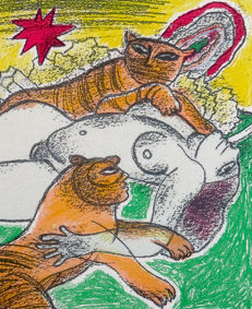 Corneille - Women with two tigers