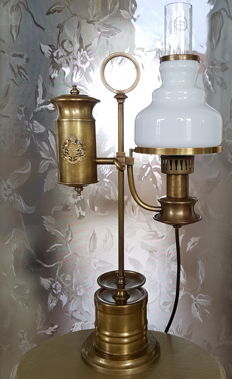 Bronze, height-adjustable ship's lamp