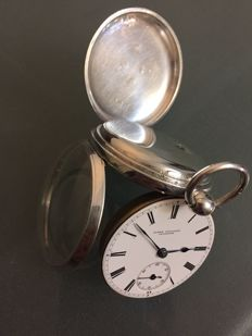 james willocks arbroath silver fusee movement open face english  pocket watch 1863 chester