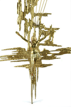 Enormous size Dali's Christ in bronze - Surrealism, Spain, second half 20th century