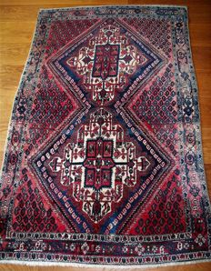 Hand-knotted, Persian rug, Afshar, Persia, wool on cotton, Persian, 183 x 115, around 1975