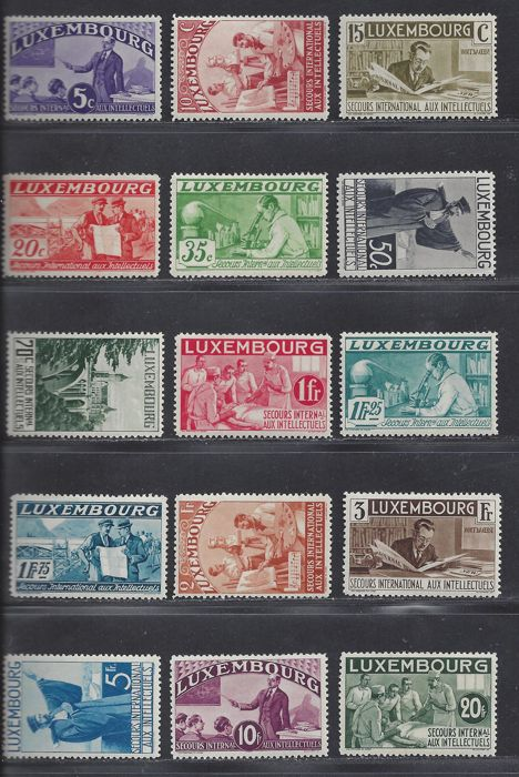 Luxembourg 1935 – Intellectuals – Michel 266/280
