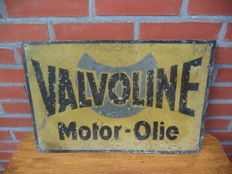 Valvoline Motor Oil - motor oil - zinc advertising sign
