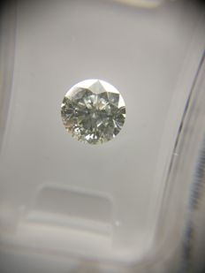 1.01 ct Round cut diamond H SI2
