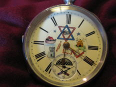 J & C White Manchester masonic pocket watch - Heren - 1850-1900