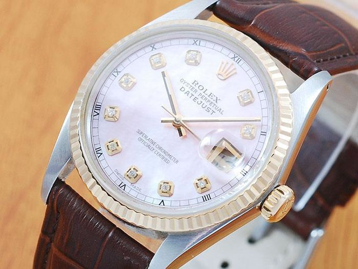 Rolex 16013 Diamonds Oyster Perpetual DATEJUST Automatic Men's Watch!