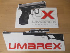 2 XXL double-sided advertising signs of Umarex Air guns - USA