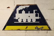 Enamelled SNCF sign