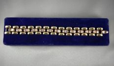 18 kt gold bracelet, TANK model, yellow and rose gold, from around 1946, France