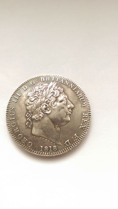 United Kingdom - Crown 1818 LIX George III - silver