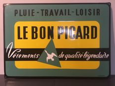 Old advertising sign LE BON PICARD