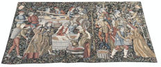 vintage pictorial tapestry , second half of the 20th century, France 124 cm x 66 cm,