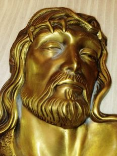 Christ  - Ecce Homo - Bronze plate - Curtí Italy - year 1970.