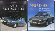 2 NSU books - NSU Automobile Types-Technik-Modelle and NSU Ro80 Die Geschichte des Wankelmotors