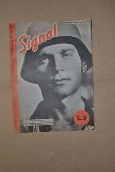 "Lot of 12 issues of the Italian German magazine ""Signal""  + 1 issue of the magazine ""la Germania"" - 1943/44"