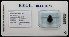 2.26 ct Certified Fancy Brownish Grey VG/VG Diamond  - NO RESERVE