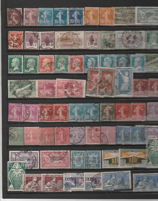 France - collection of stamps - postal, Air Mail, Precancels