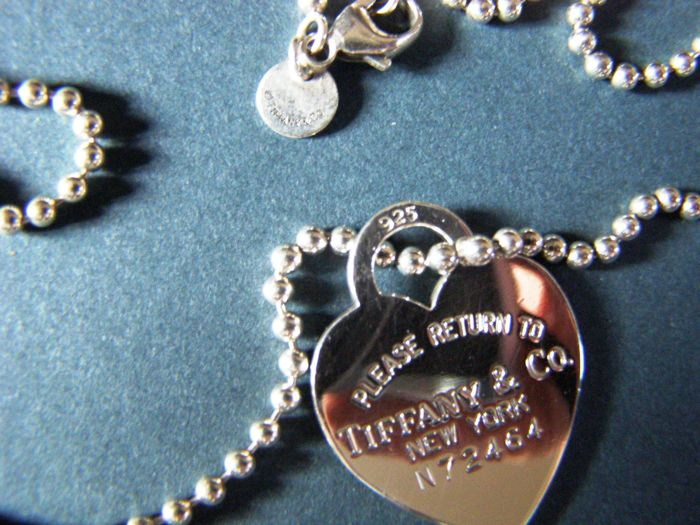 537de1ddbe Tiffany & co. Return to Tiffany Heart Tag N 72464 Pendant With Necklace.  Silver