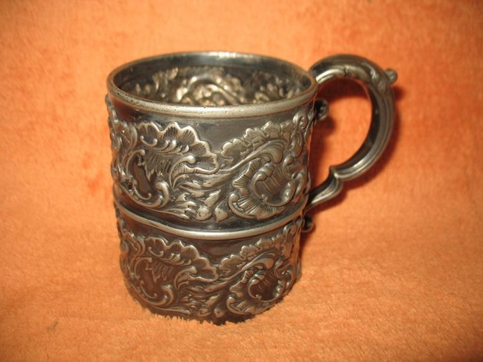 Antique Victorian Silver plated Pot Derby Silver Co
