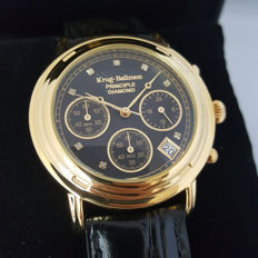 Krug Baumen - German Principle 8 Diamonds Gold Chronograph (Men's) - 2017, New, Complete in Box