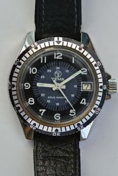 YEMA Sous Marine - men's wristwatch - 1970s