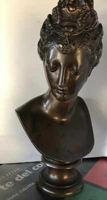 After Jean Goujon - bronze bust of Diane de Poitiers - France - 19th century