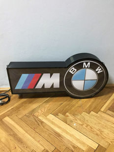 XXL BMW M Power- Illuminated Lightbox - 71cm x 35 cm x 21cm - Garage Lamp - Germany 1990s