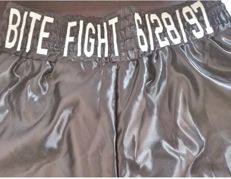 Mike Tyson autographed shorts with certificate of authenticity