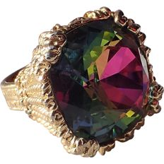 Napier watermelon Hope diamond cocktail ring New York 1965