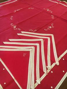Handcrafted silk cotton tablecloth