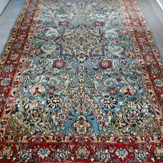 Striking old Ghom Persian rug with silk - 212 x 139 - with certificate - amazing appearance GREAT  - collector's item