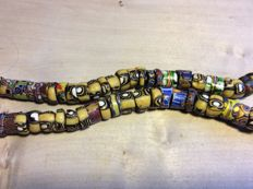 Old Millefiori beads from Africa.