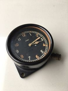 WW2 RAF cockpit clock, 8 day, mk II B