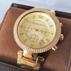 Michael Kors - Parker Chronograph Diamond Gold (Ladies) - 2017, New, Complete in Box